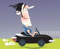 Conduzindo um carro Imagens de Stock