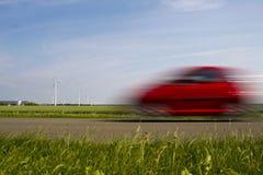 Conduzindo a velocidade do carro Imagens de Stock Royalty Free