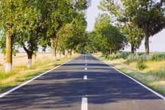 Conduzione della strada diretta Fotografia Stock