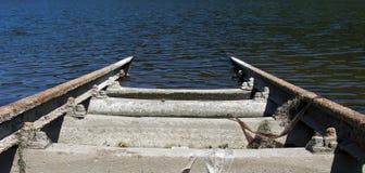 Conduzione ferroviaria nell'acqua Fotografia Stock Libera da Diritti