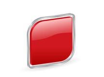 ícone 3d vermelho com contorno Foto de Stock Royalty Free