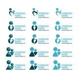 Ícone ajustado do logotipo Imagem de Stock Royalty Free