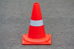 Cone alaranjado do tráfego Fotografia de Stock Royalty Free