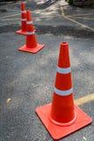 Cone alaranjado plástico Imagem de Stock Royalty Free
