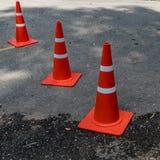 Cone alaranjado plástico foto de stock royalty free