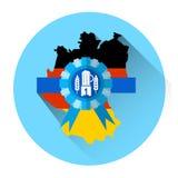 Ícone alemão do feriado do festival de Oktoberfest da cerveja do mapa Fotos de Stock Royalty Free