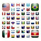 Ícone americano do app do continente Fotos de Stock