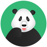 Ícone app móvel da panda Fotos de Stock