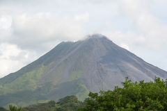 Cone of Arenal volcano in Costa Rica Royalty Free Stock Photo