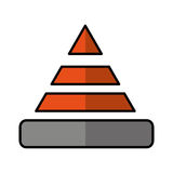 cone caution isolated icon Royalty Free Stock Images