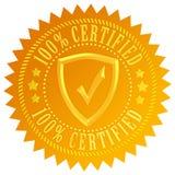 Ícone certificado Fotografia de Stock Royalty Free