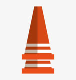 Cone construction isolated icon Royalty Free Stock Images