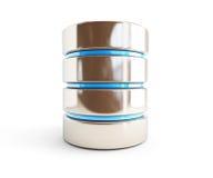 Ícone 3d da base de dados em um fundo branco Fotografia de Stock