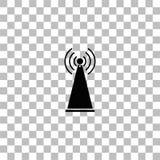 ?cone da antena liso ilustração royalty free