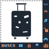 ?cone da bagagem do curso horizontalmente ilustração do vetor