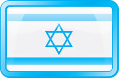 Ícone da bandeira de Israel Foto de Stock Royalty Free