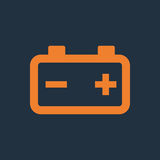 Ícone da bateria de carro Imagens de Stock