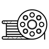 ?cone da bobina Bobina do filme Rolo, bobina, bobina, carretel, carretel, dobadoura Vetor ilustração stock
