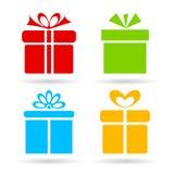 Ícone da caixa de presente Fotografia de Stock