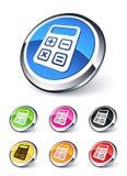 Ícone da calculadora Foto de Stock