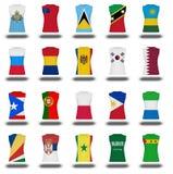 Ícone da camisa da bandeira dos nacionais na parte branca 810 do fundo Imagem de Stock