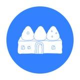 Ícone da casa da colmeia no estilo preto isolado no fundo branco Ilustração do vetor do estoque do símbolo de Turquia Foto de Stock Royalty Free