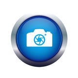 Ícone da câmera fotográfica Foto de Stock Royalty Free