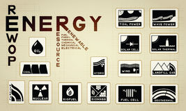 Ícone da energia Foto de Stock Royalty Free