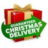 Ícone da entrega do Natal Fotos de Stock Royalty Free