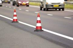 Cone da estrada Fotografia de Stock