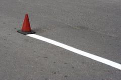 Cone da estrada foto de stock