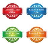 Ícone da etiqueta da oferta do tempo limitado Fotos de Stock Royalty Free