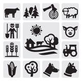 Ícone da exploração agrícola Imagens de Stock Royalty Free