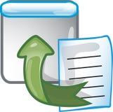 Ícone da exportação Imagem de Stock
