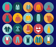 Ícone da forma da roupa do armazém. Imagem de Stock