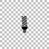 ?cone da l?mpada da energia de ECO horizontalmente ilustração stock