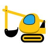 Ícone da máquina escavadora Imagens de Stock Royalty Free