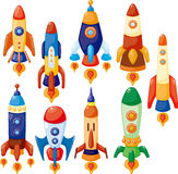 Ícone da nave espacial dos desenhos animados Foto de Stock