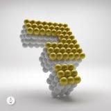 Ícone da pergunta Elemento do design web vetor 3d Fotografia de Stock