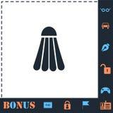 ?cone da peteca do badminton horizontalmente ilustração do vetor