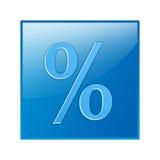 Ícone da porcentagem Fotos de Stock Royalty Free