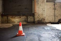 Cone da segurança fotografia de stock royalty free