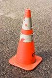 Cone da segurança com fundo afiado Imagens de Stock Royalty Free