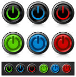 Ícone da tecla da potência Imagens de Stock