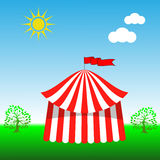Ícone da tenda do circus Imagens de Stock Royalty Free