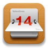 Ícone da tâmara de calendário Foto de Stock Royalty Free