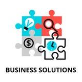 Ícone das soluções do negócio, para o gráfico e o design web Foto de Stock Royalty Free