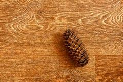 Cone de abeto em uma tabela de madeira Foto de Stock