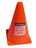 Cone de advertência isolado do perigo Imagens de Stock