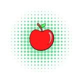 Ícone de Apple, estilo do pop art Imagens de Stock